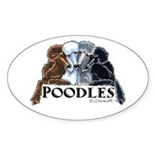 Poodles Decal