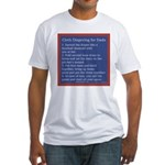 Cloth Diaper Instructions for Dads Fitted T-Shirt