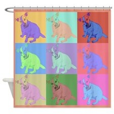 Jack Russell Terrier Warhol Style Shower Curtain