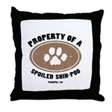 Shih-Poo dog Throw Pillow