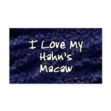 hahnsmacaw_funklove_oval Rectangle Car Magnet