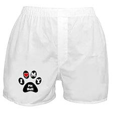 I Heart My Pit Bull Boxer Shorts