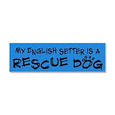 englishset_rescuedog Car Magnet 10 x 3