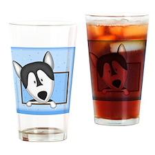 malamute_drawing_tile Drinking Glass