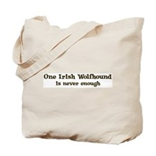 One Irish Wolfhound Tote Bag