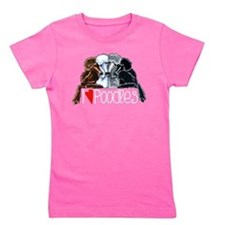 Love Poodles Girl's Tee