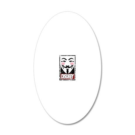 Disobey 20x12 Oval Wall Decal
