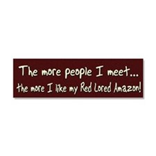 morepeople_redlored Car Magnet 10 x 3
