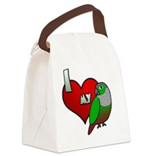 iheartmy_greencheekedconure Canvas Lunch Bag