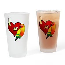 iheartmy_sunconure Drinking Glass