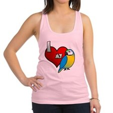 iheartmy_blueandgold Racerback Tank Top