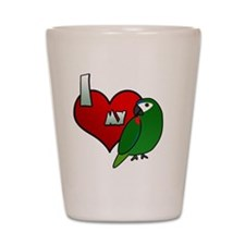 iheartmy_hahns_blk Shot Glass