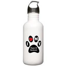 I Heart My Dogue de Bordeaux Water Bottle