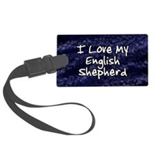 funklove_oval_engshep Luggage Tag