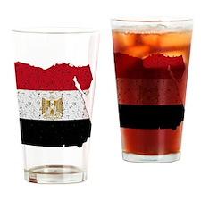 Egypt Flag Map Drinking Glass