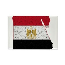 Egypt Flag Map Rectangle Magnet