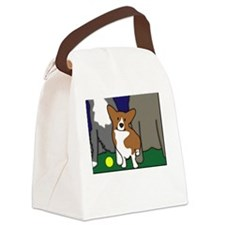 heightdogsrule_blk Canvas Lunch Bag