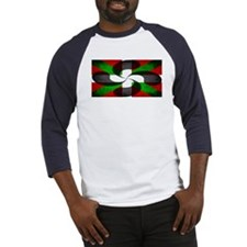 Basque Flag and Cross Baseball Jersey