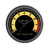 Sky Redline Tachometer Wall Clock