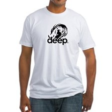 """Bodyboarders Go Deeper"" Fitted T-shirt"