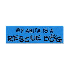 akita_rescuedog Car Magnet 10 x 3