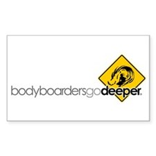 """Go Deep Sign"" Rectangle Decal"