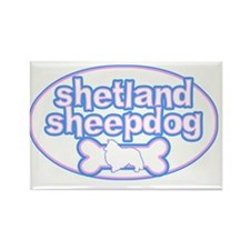 cutesy_shetland_oval Rectangle Magnet