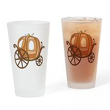 Pumpkin Carriage Drinking Glass