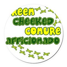 afficionado_greencheek Round Car Magnet