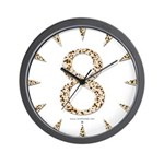 Tortoise Shell 8 Wall Clock