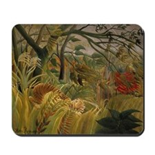 Tiger in Tropical Storm Mousepad