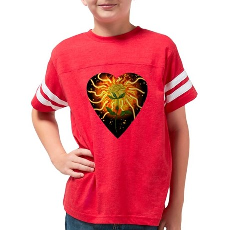 I Love Heart Fantasy Football Kids Baseball Jersey