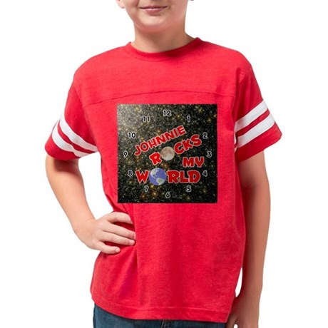 I Love Heart Fantasy Football Jr. Ringer T-Shirt