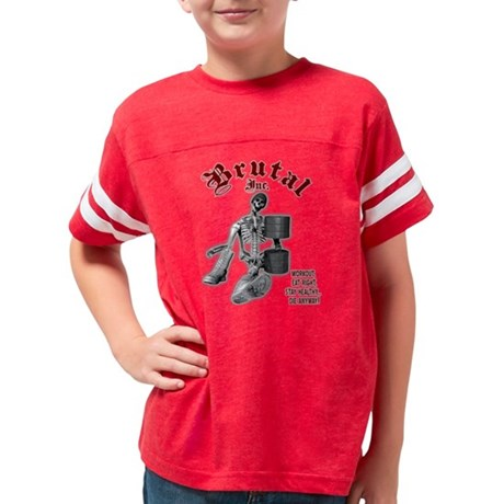 I Love Heart Fantasy Football Jr. Jersey T-Shirt
