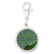 military_parrotwear Silver Round Charm