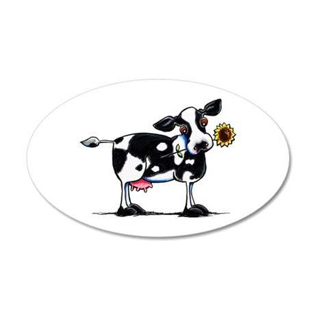 Sunny Cow 20x12 Oval Wall Decal