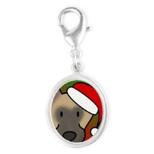 anime_belgianmalinois_ornament Silver Oval Charm