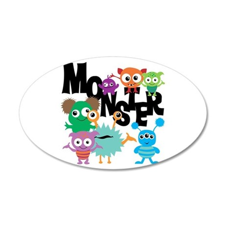 Monsters 20x12 Oval Wall Decal