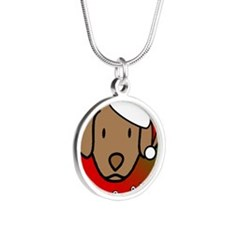 anime_chessie_ornament Silver Round Necklace