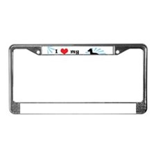 s_ilovemy_italiangreyhound License Plate Frame