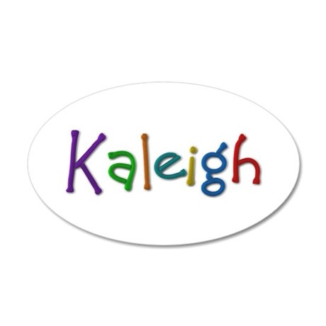 Kaleigh Play Clay 35x21 Oval Wall Decal