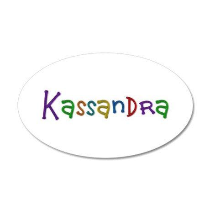 Kassandra Play Clay 20x12 Oval Wall Decal