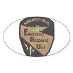 Minneapolis PD E.R.U. Oval Sticker