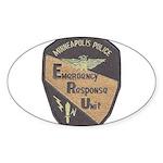 Minneapolis PD E.R.U. Oval Sticker