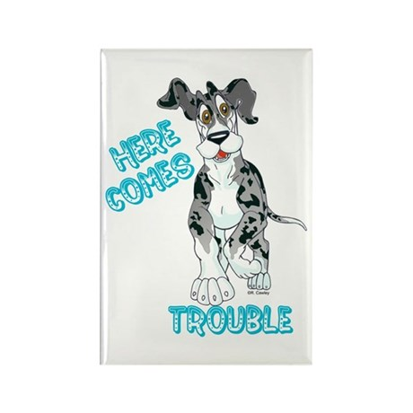 MtlMrl Trouble Pup Rectangle Magnet