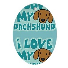 dachshund_animelove_sticker Oval Ornament