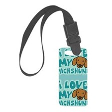 dachshund_animelove_sticker Luggage Tag