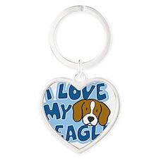 beagle_animelove_ornament Heart Keychain
