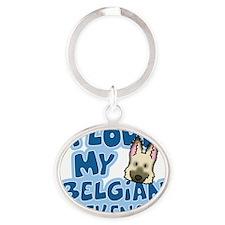 belgianlaek_animelove_ornament Oval Keychain