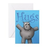 Huggable Hippo Greeting Cards (Pack of 6)